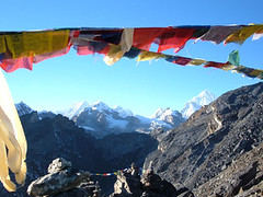 Tibetan Prayer Flags at Gokyo Rei