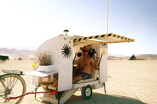 Cool bicycle RV designed for 'Burning Man'