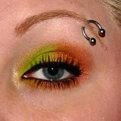 Caramel Apple (snooglerat) Tags: blue eye girl eyes nikon lashes urbandecay blueeyes makeup indoors eyeshadow highlight 2009 multicolor eyeliner fotd eyebrowring kryolan nikond90 ilovemakeup faceoftheday udpp urbandecayprimerpotion nikond90nikon