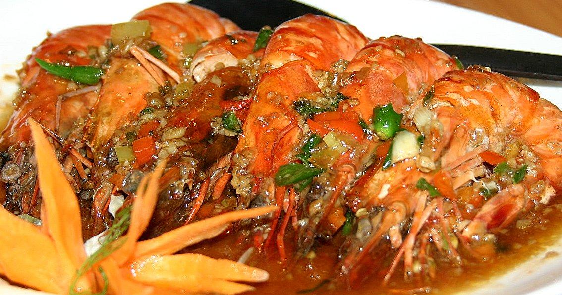 Red Trellis Sweet Chili Shrimps