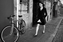 when a bike is stolen a fairy dies (Celeste) Tags: street winter woman beauty bike hair buenosaires wind santelmo daiana gettyimagesargentina