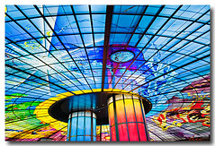 TWNhw1552 (Henry Westheim Photography) Tags: city travel urban color colour building art glass station architecture colorful asia metro interior cities taiwan landmark trainstation kaohsiung destination inside colourful mrt fareast narcissus massrapidtransit eastasia formosaboulevard domeoflight quagalita