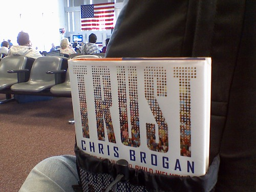 Reading @chrisbrogan at Logan.