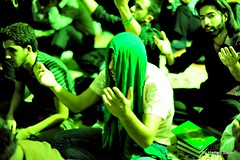 Al-Qadr Night Ceremony,Ramadan 19th,Green Prayers (Hamed Saber) Tags: green iran ramadan  19 ramazan    ghadr  qadr ehya  daralzahra