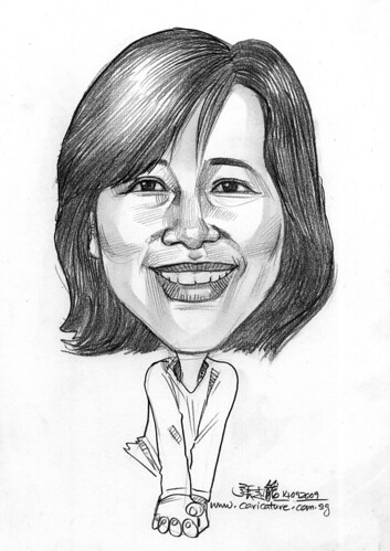 lady caricature in pencil 140909
