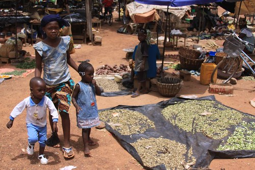 Minor market in Ouagadougou...