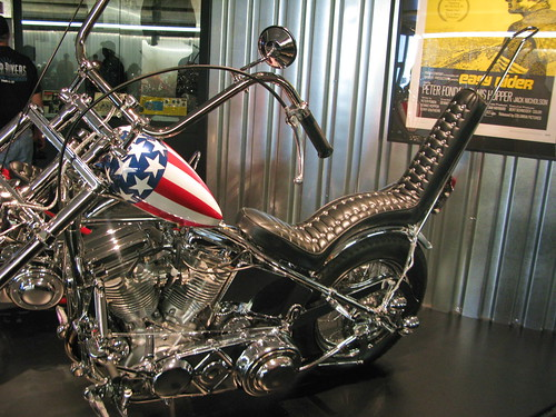 Easy Rider Motorcycle - Harley-Davidson Museum -- milwaukee wisconsin museum art davidson harley rider easy motorcycle chrome exhibit hog
