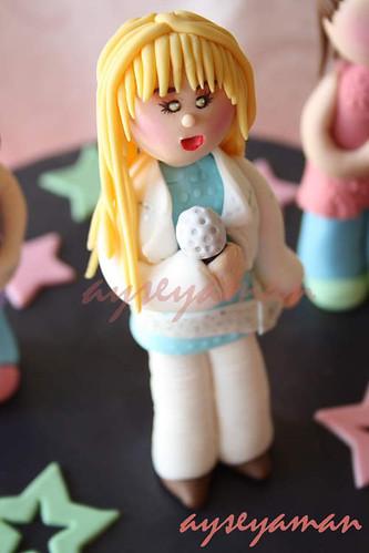 Hannah Montana Gum Paste Figure
