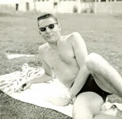Guys Gone Wild - 1957 Style in California (Utah Guy) Tags: california friends blackandwhite white black male men vintage blackwhite scans handsome guys 1957 southerncalifornia atthepool