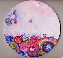 The Littlest Bird (marilyn_cvitanic) Tags: bird art painting circle acrylic surrealism fineart surreal abstractions cvitanic