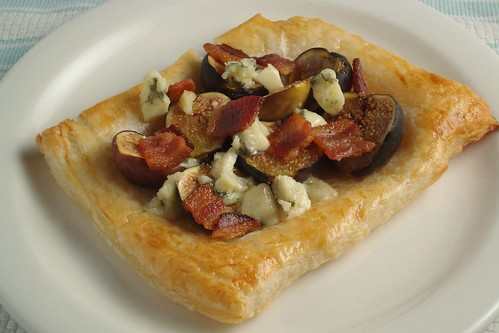 Fig Bacon and Gorgonzola Tart