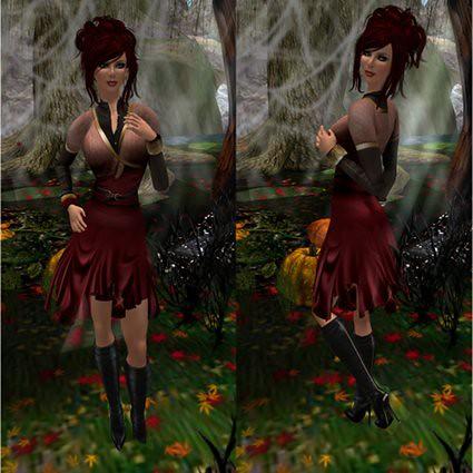Zaara - Larin Skirt (Wine) Composite