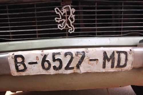 License plate, Mali.