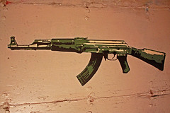 AK-47 Stencil (Patrick Evan) Tags: street art graffiti cool stencil paint gun machine spray weapon ak47