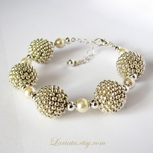 handmade bracelet with beaded beads