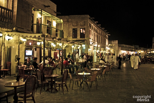 Night At Souq Waqif Street