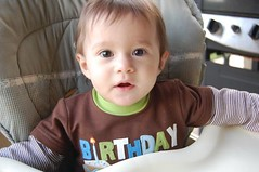 Aw (Monica_Michelle) Tags: road birthday friends red party green cars car cake kids fire one yummy eyes hand brother chocolate christopher sprinkles together half vanilla lightning highchair mcqueen