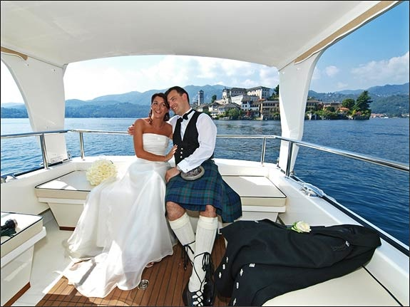 Scottish Wedding on Isola San Giulio