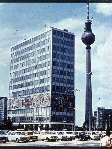 East Berlin 1980 - House Of the Teacher and Radio and TV Tower