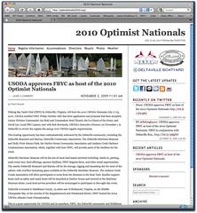 Opti Nationals Website