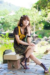 (swanky) Tags: portrait people woman cute girl beauty canon asian eos model asia pretty taiwan babe taipei   2009 taiwanese    mikako  gladiatorsandals difocus  mikako1984  5dmarkii 5d2  5dmark2
