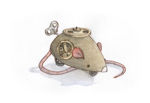 fly wheel clockwork mouse