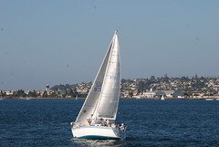 Sailing on San Diego Bay (Thank You 7.5 Million Visitors!) Tags: people boats sandiegobay