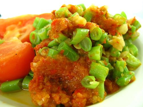 IMG_4650 马来煎(Belacan)四季豆炒番茄