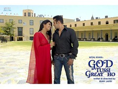 [Poster for God Tussi Great Ho with God Tussi Great Ho, Rumy Jaffery, Amitabh Bachchan, Salman Khan, Priyanka Chopra]