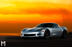 Silver Z06  Sunset (Mishari Al-Reshaid Photography) Tags: road sunset sea sky orange reflection cars chevrolet sports car photoshop canon silver reflections seaside automobile fast chevy kuwait roads corvette canondslr powerful canoneos v8 automobiles kuwaitcity sportscar sportscars q8 z06 24105 gtm carphoto canoncamera canonphotos canoneflens imagestabilizer 24105mm q80 canonllens ef24105 mishari canonef24105f4lis kuwaitphoto kuwaitphotos 580exii canoneos40d canon40d kuwaitcars kvwc kuwaitartphoto gtmq8 kuwaitart kuwaitvoluntaryworkcenter kuwaitvwc canon580exiiflash kuwaitsunsets kuwaitphotography misharialreshaid misharyalrasheed
