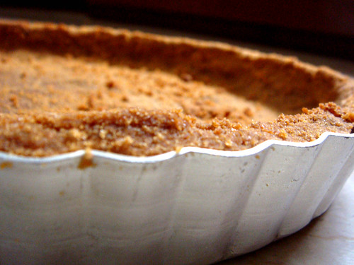 Graham Cracker Crust ready for Banoffee