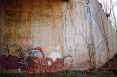 shadow graffiti (loganbertram) Tags: 35mm photography graffiti nc colorful fuji grafitti durham grafiti ae1 north northcarolina 200iso cannon carolina fujifilm logan fuji200 unc bertram hillsborough ae1p cannonae1 uncchapelhill loganbertram loganbertramphotography