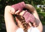 SUGARPLUM SPRITE - fingerless mitts - handspun/handknit