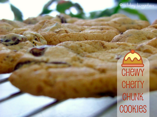 Chewy Cherry Chunk Cookies