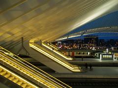 Roltrappen (nikjanssen) Tags: architecture belgium escalators lige wallonie alignements santiagocalatravavalls ultimateshot gareligeguillemins