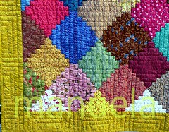 Courthouse Steps quilt (manu/manuela) Tags: paris de quilt friendship group sophie made swap quilting quilted textiles patchwork manuela campbell amiti handquilted changer topclub quiltmain handandmachinepieced quiltlamain cousumainetcousumachine topfaitengroupe