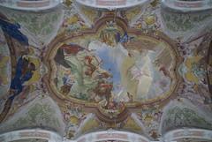 Mainz, St. Peter Kirche, Deckenfresko der Krezigung des hl. Petrus (St. Peter's Church, ceiling fresco of St. Peter's crucifixion) (HEN-Magonza) Tags: mainz stpeterkirche fresko rokoko stukkatur kreuzigungdeshlpetrus stpeterschurch fresco rococo stpeterscrucifixion mayence rheinlandpfalz rhinelandpalatinate petersstrasé deutschland germany kirchestpeter peterskirche petersstrase