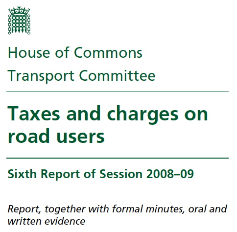 'Road tax' mentioned in parliament by org that ought to know better