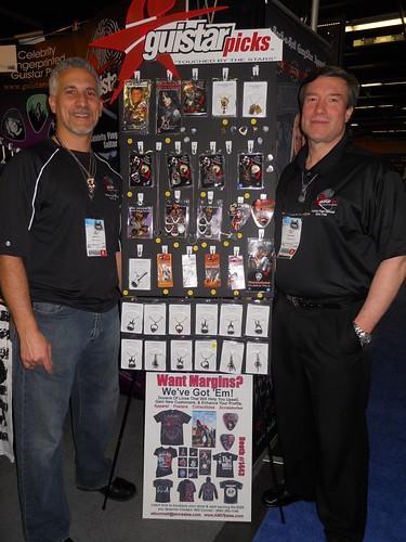 Mark V. Aletto, Rich Mackey, Guistar Picks, NAMM 2010, Anaheim Convention Center