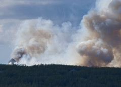Smoke Erupts to the West