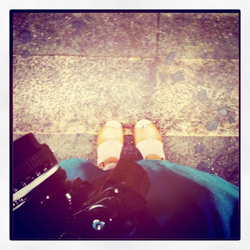 clogs and camera