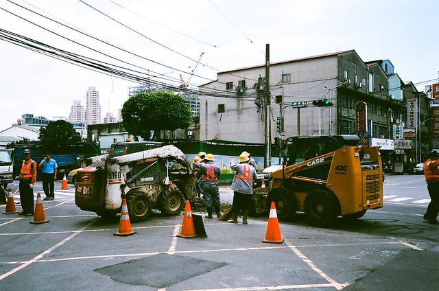 馬路上的施工