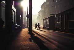 I have to return some videotapes (ewitsoe) Tags: tram dawn monring fog light shadows people trams traffic walk ride nikond80 35mm street urban poznan poland ewitsoe erikwitsoe lovethis fun quote ellis