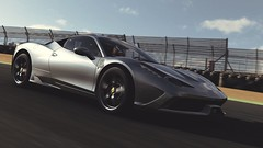 Lining Up (polyneutron) Tags: car photography ferrari 458 silver supercar forza motorsport fm6 forza6 apex pc race track photomode motion reflections