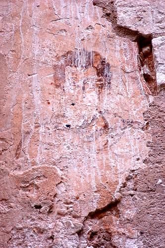 Portrait an der Südwand (Kontrast wurde angehoben)