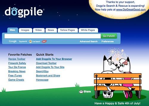 Dogpile 4th Of July Logo 2009