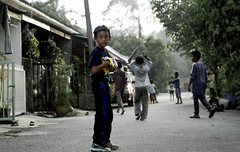 Wef (Syed Azidi AlBukhary) Tags: family son streetsoccer syedrifqinajmuddin