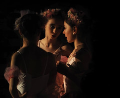 *** (Rick Elkins) Tags: light ballet woman girl dark dance ballerina bravo friendship candid talk dancer conversation backstage fivestarsgallery aplusphoto