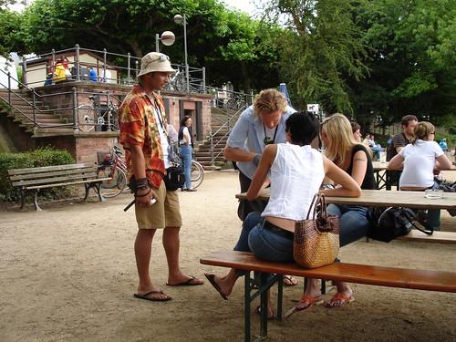Sommer am Main Café Sachsenhausen