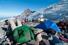 Relaxing at High Camp